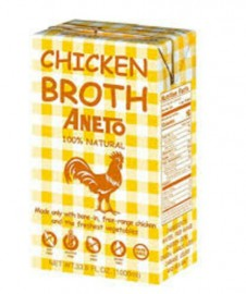 CHICKEN BROTH 1L IMPORTED FROM SPAIN 100% NATURAL, GLUTEN FREE