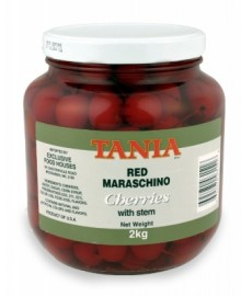 MARASCHINO RED CHERRIES ON STEM 2KG