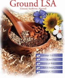 GROUND LSA MIX - LINSEED, SUNFLOWER, ALMOND 1KG