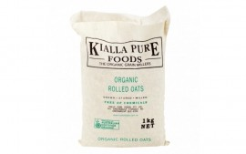 ORGANIC ROLLED OATS IN HESSIAN SACK 1KG